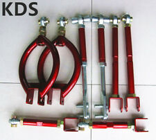 Adjustable Control Camber Arms For Nissan S13 R32 Cefiro A31 300ZX Z32 8PCS Red