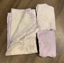 Pottery Barn Baby Crib Bedding Set Evelyn Lavender Butterflies
