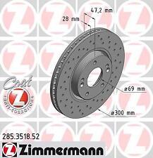 2x Bremsscheibe Bremse ZIMMERMANN (285.3518.52)