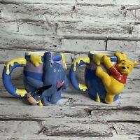 Disney Winnie The Pooh & Eeyore 3D Molded Ceramic Honey Pot Coffee Mug Cups