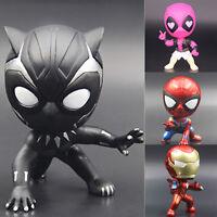 Marvel The Avengers Infinity War Deadpool Black Panther Figures Cake Topper Toys