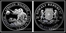 Republic Somalia 2016 Elephant 100 Shillings Silver .999 1oz (UNC)