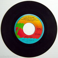 ONE 1977'S 45 R.P.M. RECORD, GRACE JONES, LA VIE EN ROSE + I NEED A MAN