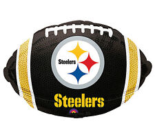 "NFL Pittsburgh Steelers Football 18"" Foil Balloon Double Sided 3 Pack Helium"