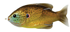 Live Target Sunfish Hollow Body SFH75T558 Copper Pumpkinseed Topwater Lure Bait
