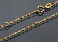 ECHT GOLD *** Feine gedrehte Singapur Kette 42-45 cm verstellbar