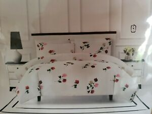 Kate Spade New York Comforter Willow Court Full/Queen Floral 3PC Set 100% Cotton