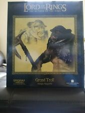 "LORD OF THE RINGS  ""GROND TROLL MAQUETTE""  *  SIDESHOW STATUE  *  WETA"