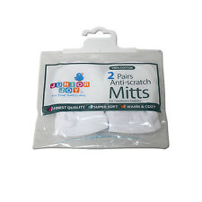 Brand New 2 Pack Scratch Mittens Newborn
