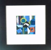 """Gustav Schleicher Abstrakte Komposition """"Lichter"""" 1959 Tempera"""