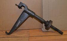 Vintage swivel bench mount vise or anvil holder steam punk industrial arm tool