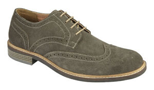 Suede Brogues Lace Up Casual Smart Shoes