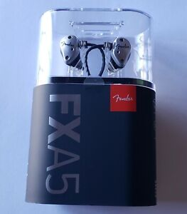 NEW Silver Fender FXA5 Professional In-Ear Monitor USA Made Headphones - SEALED