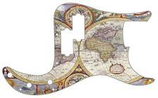 P Bass Precision Pickguard Custom Fender 13 Hole Guitar Pick Guard Map World 1
