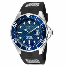 Invicta 12559 Men's Grand Diver Blue Bezel Blue Dial Rubber Strap Dive Watch