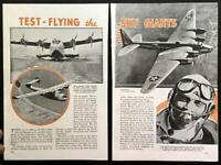 Test Pilot Edmund Allen 1939 pictorial Consolidated - Boeing - Sikorsky