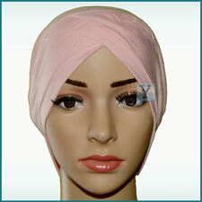 Bonnet Criss Cross Tube 2 colours Viscose Hijab cotton Cap Head Under scarf bone