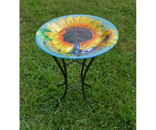 Bird Baths Blooming Sunflower Bird Bath with Stand Se5035