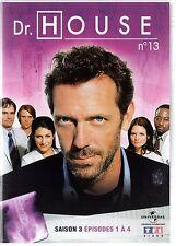 Dr HOUSE - Intégrale kiosque TF1 Video - Saison 3 - dvd 13 - Episodes 1 à 4