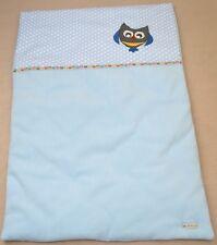 Krabbeldecke Babydecke Kuscheldecke Decke Geburt Taufe Eule ca. 100 cm x 70 cm
