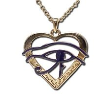 EGYPTIAN HORUS EYE HEART NECKLACE/PENDANT.SUPERIOR ANCIENT EGYPT JEWELRY.NEW