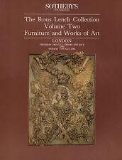 ROUS Lench Volume 2 Collection de meubles & Works of Art Auction catalogue