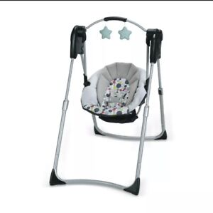 Graco Model 1601 Slim Spaces Compact Baby Swing - Color Humphry