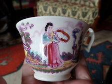 Inglés Georgiano Porcelana Londres Forma Taza Faith And Hope Alrededor 1820