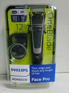 PHILIPS NORELCO ONEBLADE FACE PRO Hybrid Electric Trimmer Shaver # QP6510/70