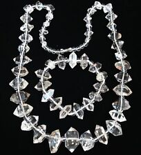 A set of  Top Quality Herkimer Diamond Crystal point Mineral Specimens/Necklace.