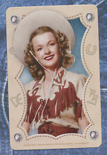 Dale Evans cowgirl playing card single swap queen of hearts - 1 card