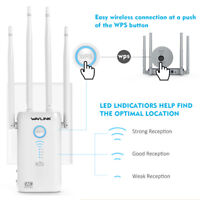 Dual Gigabit WIFI Repeater,1200Mbps Wireless Range Extender&4xHigh Power Antenna