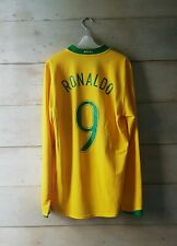 Authentic BRAZIL 2006 home jersey camisa long sleeve Ronaldo #9 - excellent