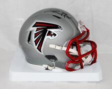 Deion Sanders Autographed Atlanta Falcons BLAZE Mini Helmet- JSA W Auth *Black