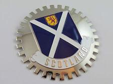 Grille Badge Scotland for car truck grill mount Scottish flag chrome emblem