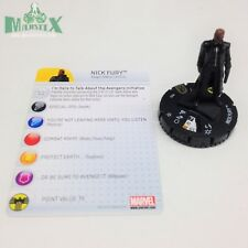 Heroclix Avengers Movie set Nick Fury #035 Super Rare figure w/card! Team Pack