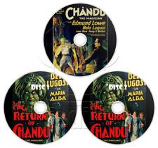 Chandu the Magician (1932) + The Return of Chandu (1934) Bela Lugosi (3 x DVD)