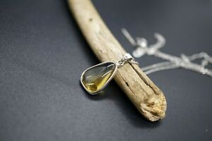 Free Shape Citrine Pendant With Platinum Plated Silver Adjustable Chain 19*12MM