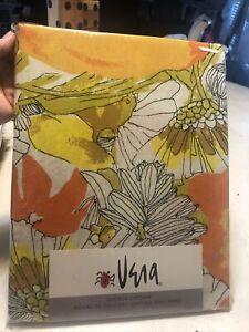 Vera Neumann Orange Zinnias Poppy Floral Shower Curtain Poppies Multi 72x72 NIP