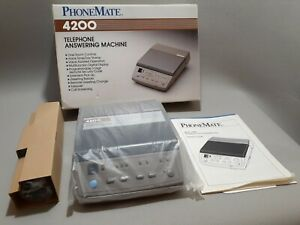 NEW 1990  PHONEMATE 4200 TELEPHONE (ANSWERING MACHINE) DUAL STANDARD CASSETTES