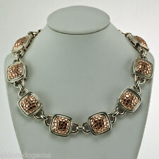 """CHARLES KRYPELL 14K PINK GOLD & STERLING SILVER PYTHON COLLECTION NECKLACE 17"""""""