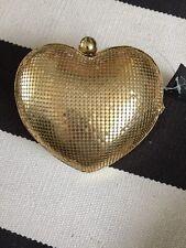 Topshop Gold Clutch Bag Love Heart BNWT RRP £28