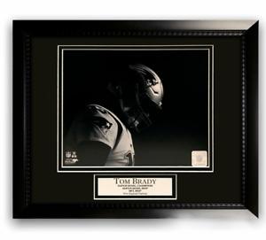 Tom Brady New England Patriots Unsigned Photo Custom Framed to 16x20