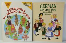 Lot Of 2 Paper Doll Books: 'Around The World & German' VTG* COLLECTIBLE