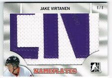 2014-15 ITG DRAFT PROSPECTS NAMEPLATES LETTER PATCH #N-P15 JAKE VIRTANEN 8/8 !!