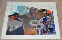 1990 AL HINTON AFRICAN AMERICAN ARTIST COLLAGE UNIVERSITY MICHIGAN NCA 11X14