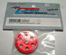 TEAM ASSOCATED RC18 RC18MT RC18B 54 TOOTH GPM RED ALUMINUM SPUR GEAR HAR054T