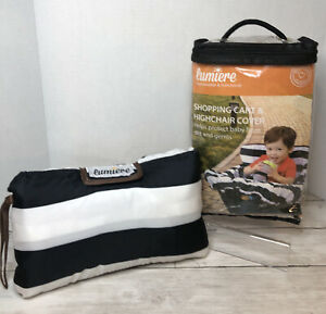 NEWLumiere Shopping Cart & Highchair Cover for Baby and Toddler Black and White