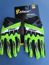 Thor adult SPECTRUM motocross ATV gloves sz 7 EXTRA SMALL GREEN new