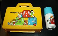 Fisher Price Lunchbox w/ Thermos ABC Pretend Play Plastic 1979 1970s  -L=